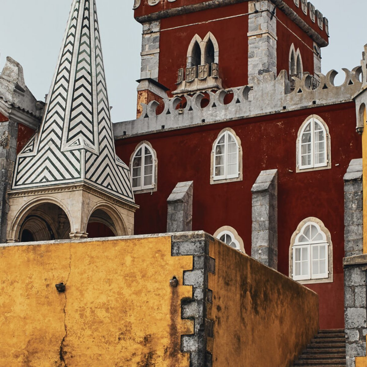 A view of Pena Palace, Sintra in Portugal