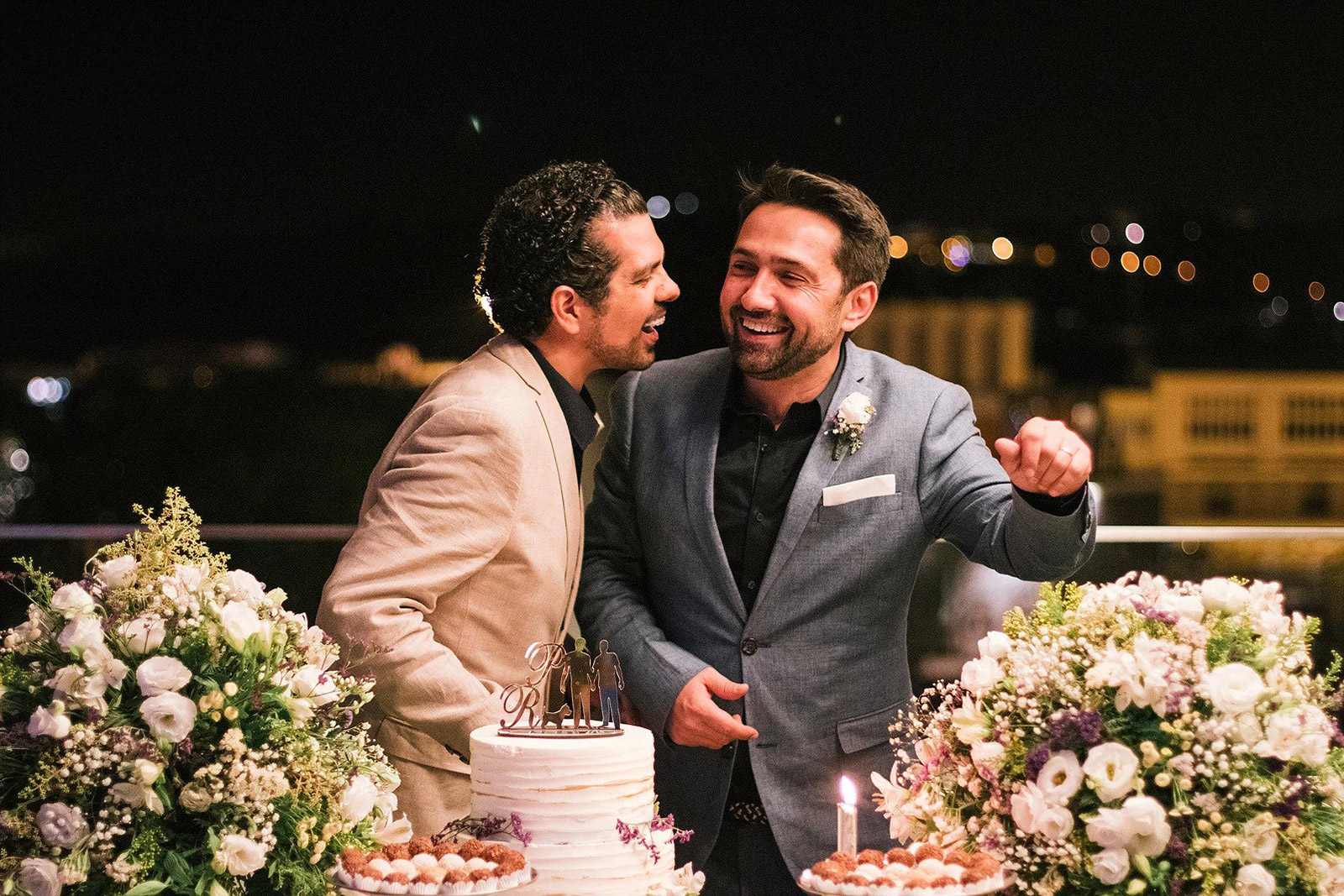 Gay guys newly wed by Wedding Planners APoema Events, Portugal