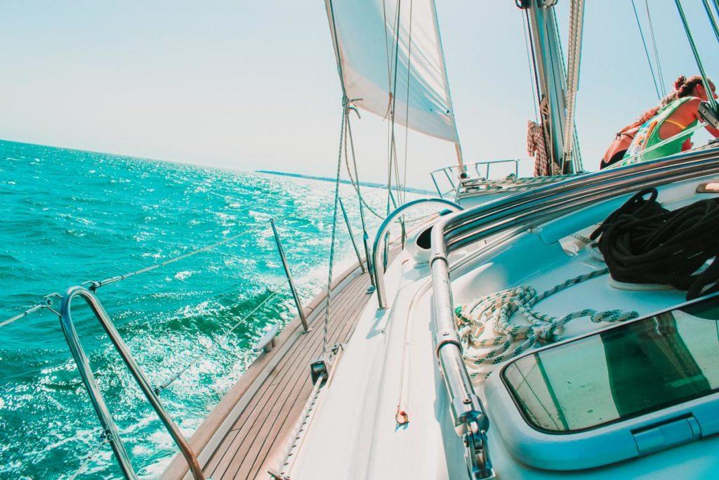 Sailing in Algarve, Portugal